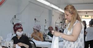 Kadın girişimci, eşinin desteğiyle tekstil...
